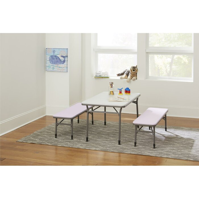 Tremendous Epping Adjustable Height Kids 3 Piece Rectangular Table And Chair Set Theyellowbook Wood Chair Design Ideas Theyellowbookinfo