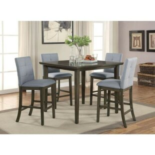 Mireille Counter Height 5 Piece Pub Table Set Red Barrel Studio
