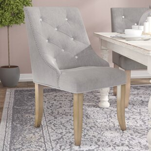 Clay Contemporary Upholstered Dining Chair (Set of 2) One Allium Way