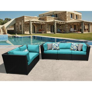 Medley 5 Piece Sofa Seating Group with Cushions