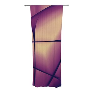 Paper Heart Abstract Semi-Sheer Curtain Panels (Set of 2)