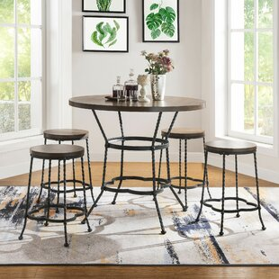 Carbon 5 Piece Pub Table Set Fleur De Lis Living