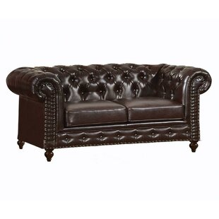 Pace Button Tufted Loveseat by Canora Grey