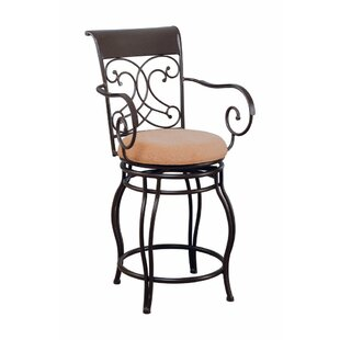 Cluff Scroll 40 Bar Stool Fleur De Lis Living