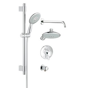 GrohFlex Thermostatic Shower System - Includes Trim, Shower Head, Hand Shower, Shower Arm, Hose and Wall Supply By Grohe