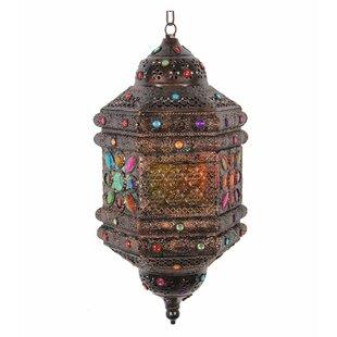 Sparkling Antique Metal Lantern by World Menagerie