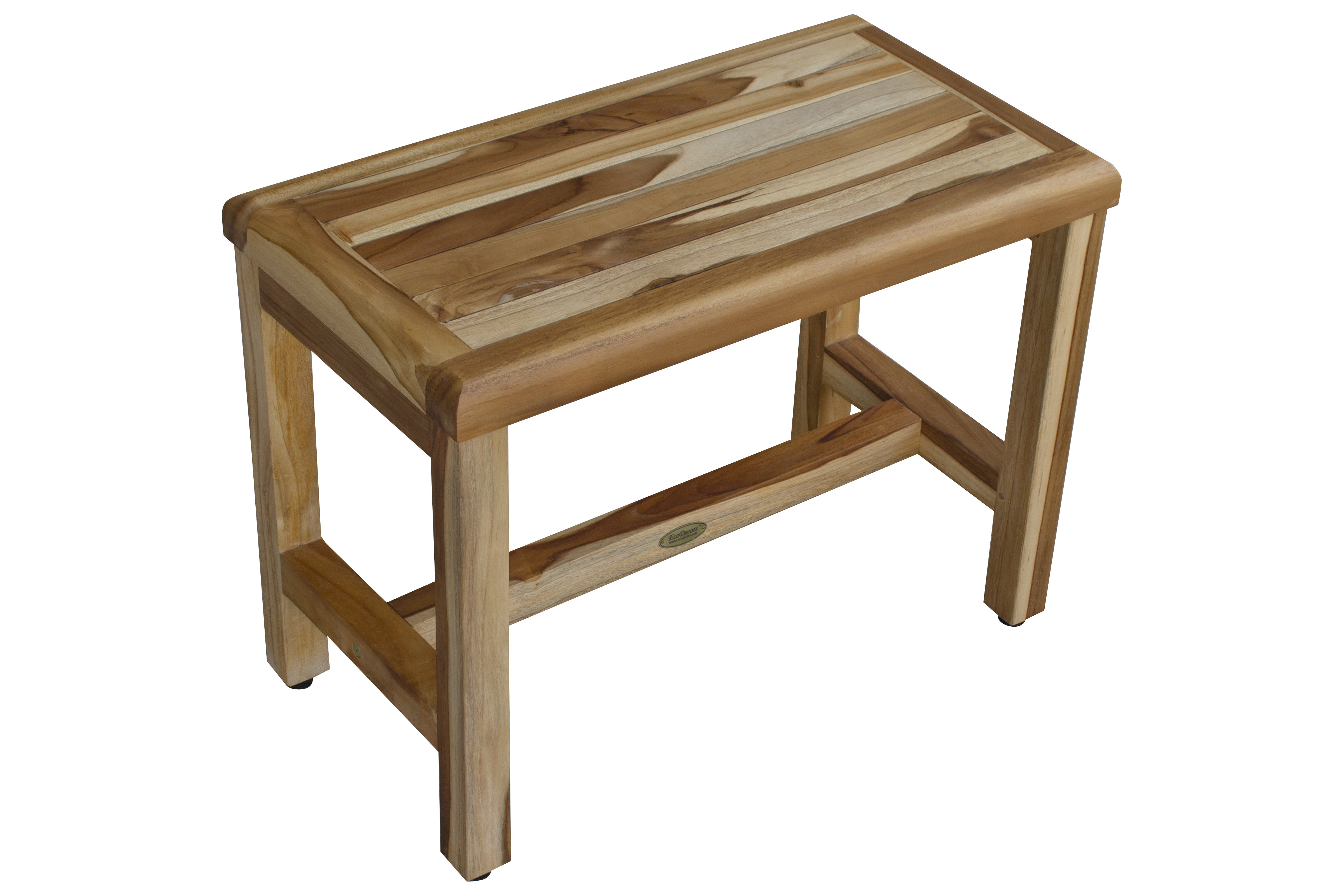Picture of: Ecodecors Earthy Teak Classic 24 W Teak Shower Bench Reviews Wayfair