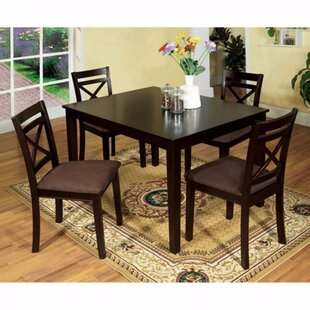 Poduska 5 Piece Solid Wood Dining Set by Red Barrel Studio