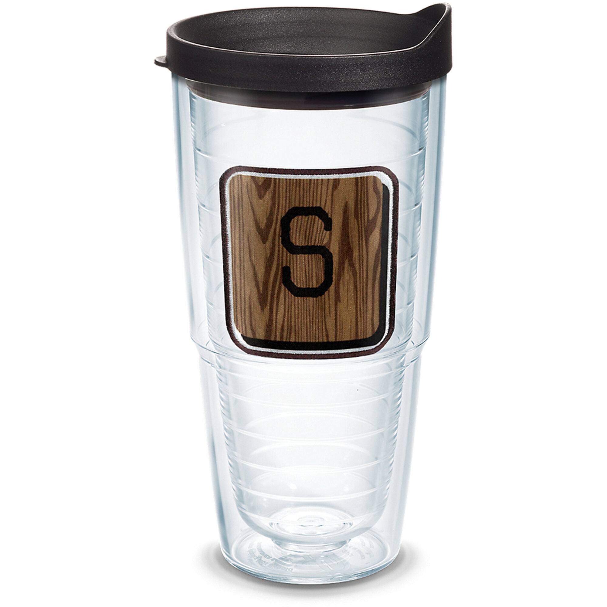Tervis Tumbler Initial S Wood Tile With Emblem 24 Oz Travel Tumbler Wayfair