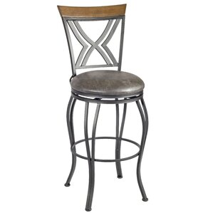 Beryl Swivel Bar Stool by Red Barrel Studio