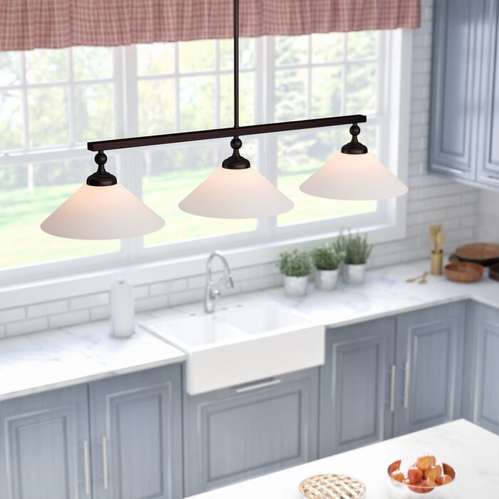 Debra 3 - Light Kitchen Island Linear Pendant