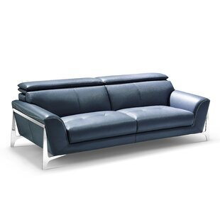 Binghampton Leather Sofa by Orren Ellis