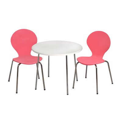 Mack & Milo Adelaide Kids 3 Piece Writing Table and Chair Set Color: Pink
