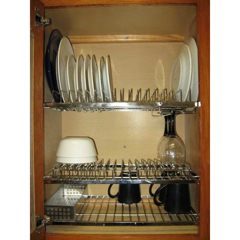 Perfect Cabana In Cabinet Dish Drying And Storage Rack