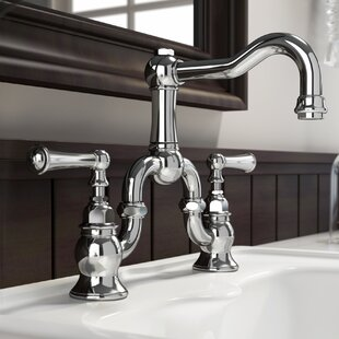 Barrea Bridge Widespread Bathroom Faucet With Drain Assembly