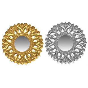 Astoria Grand Kushner Carved Accent Mirror (Set of 2)