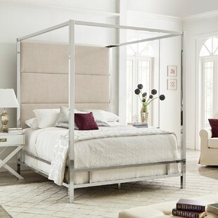 Mercury Row Moyers UpholsteredCanopy Bed