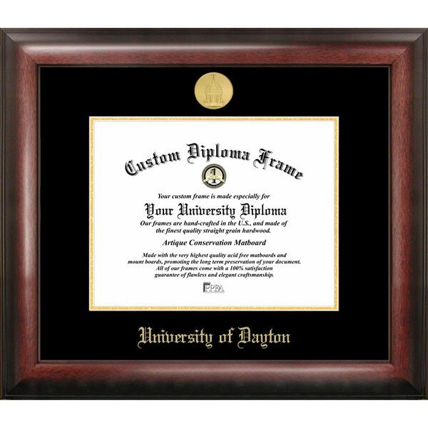 Campus Images Ncaa Dayton Flyers Gold Embossed Diploma Frame Reviews Wayfair
