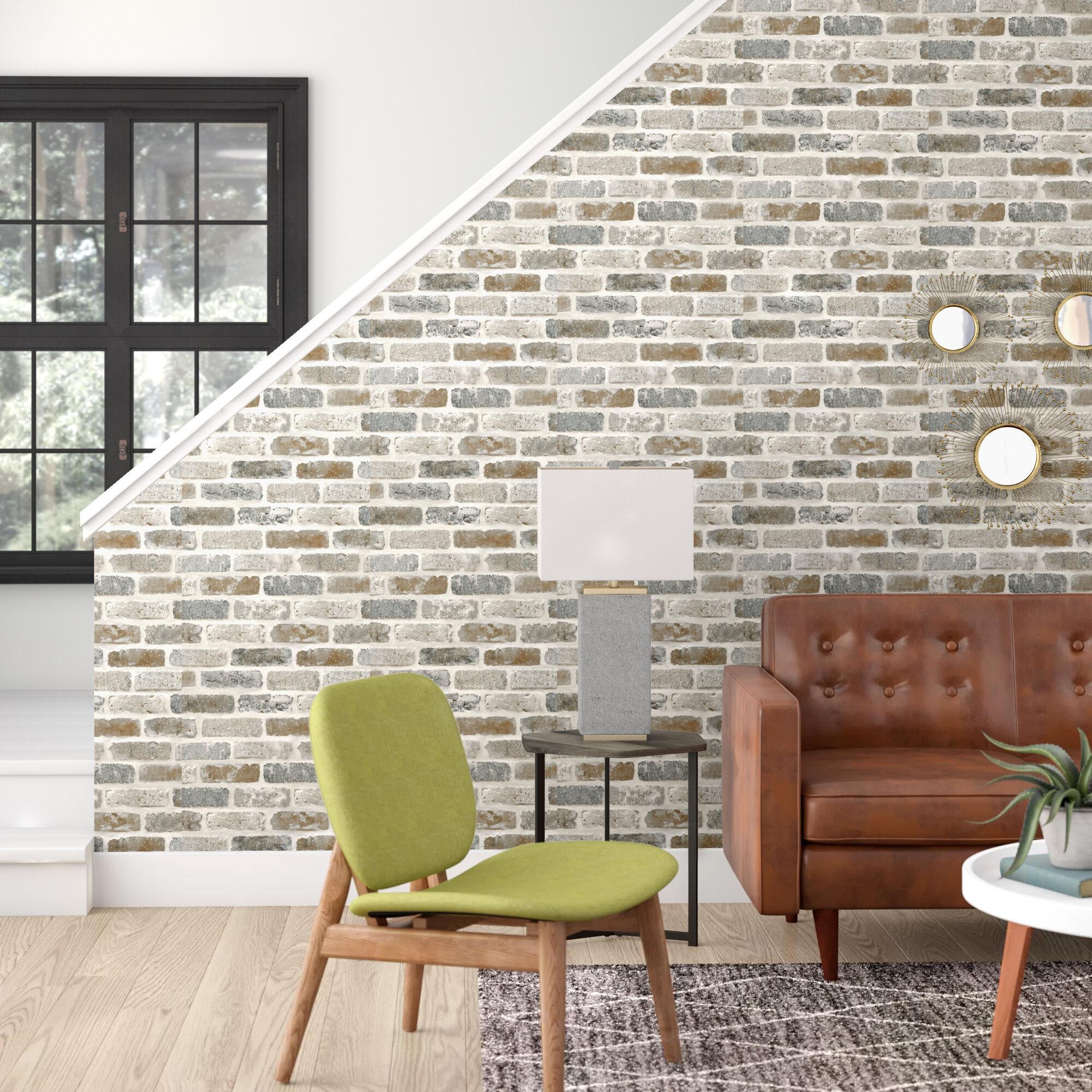 Ebern Designs Perla Washed 18 L X 20 5 W Peel And Stick Wallpaper Roll Reviews Wayfair