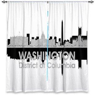 City IV Washington DC Angelina Vick's Room Darkening Curtain Panels (Set of 2) by East Urban Home