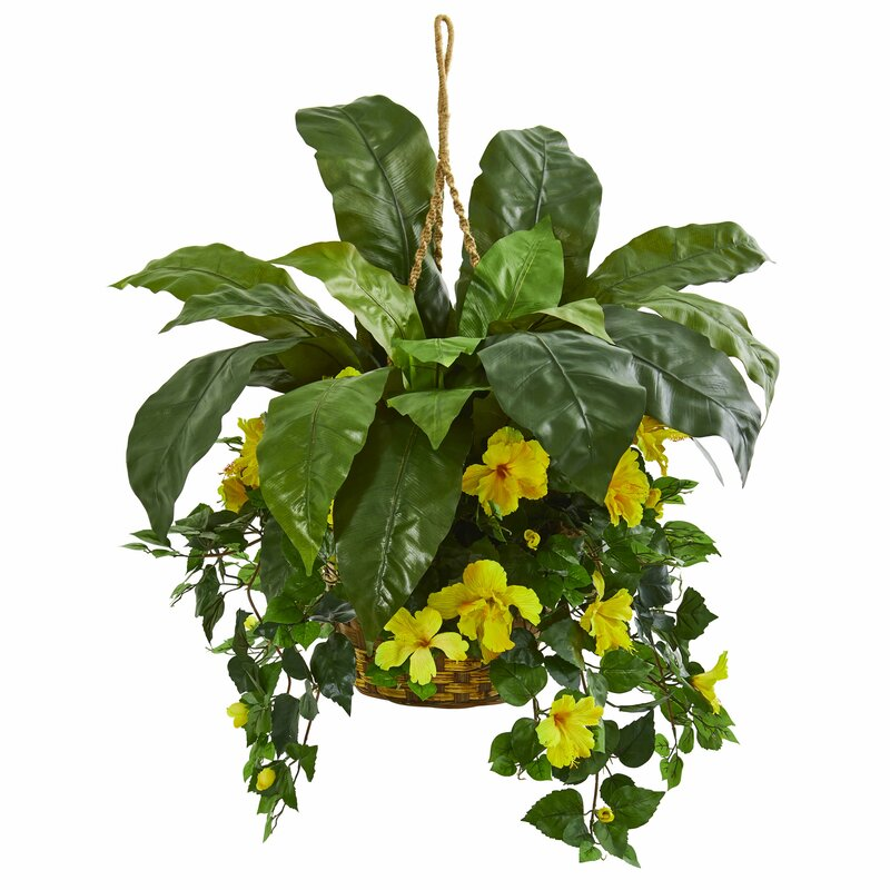 August Grove 20 Artificial Foliage Plant In Basket Wayfair