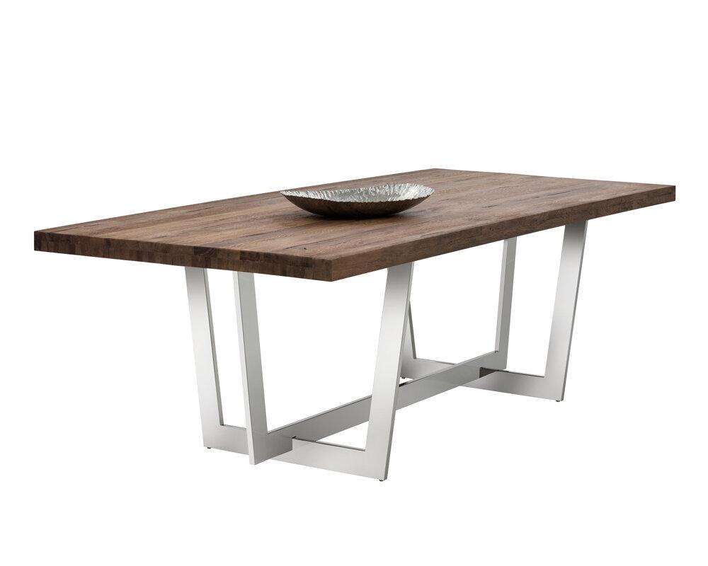 Sunpan Modern Irongate Ezra Dining Table | Wayfair