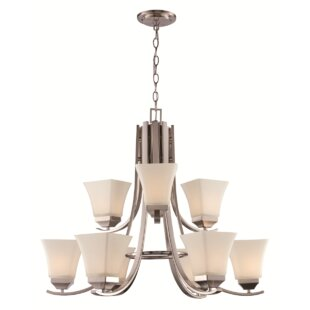 Latitude Run Darino 9-Light Shaded Chandelier