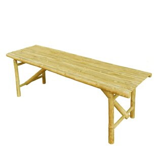 Prastio Bamboo Slat Design Picnic Bench by Bay Isle Home