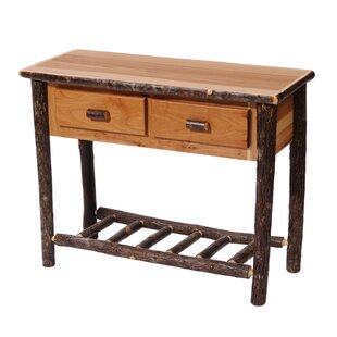 Hickory Two Drawer Console Table