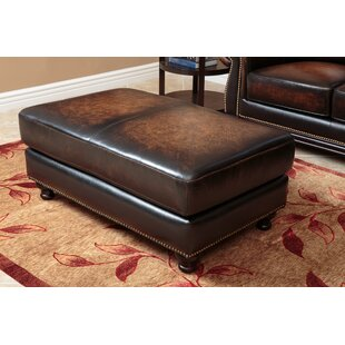 Darby Home Co Barwood Leather Ottoman