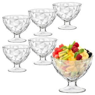 360ml Diamond Ice Cream Sundae Dessert Bowl (Set Of 12) By Bormioli Rocco