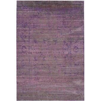 East Urban Home Soucy Patchwork Wool Purple Area Rug Wayfair