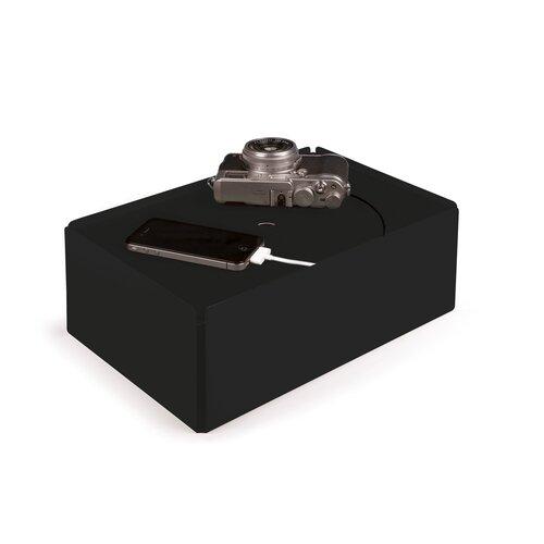 Kabelbox aus Stahlblech / Filz ClearAmbient Farbe: Schwarz / Schwarz | Baumarkt > Elektroinstallation > Weitere-Kabel | ClearAmbient