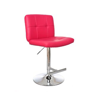 Michele Adjustable Height Swivel Bar Stool Orren Ellis