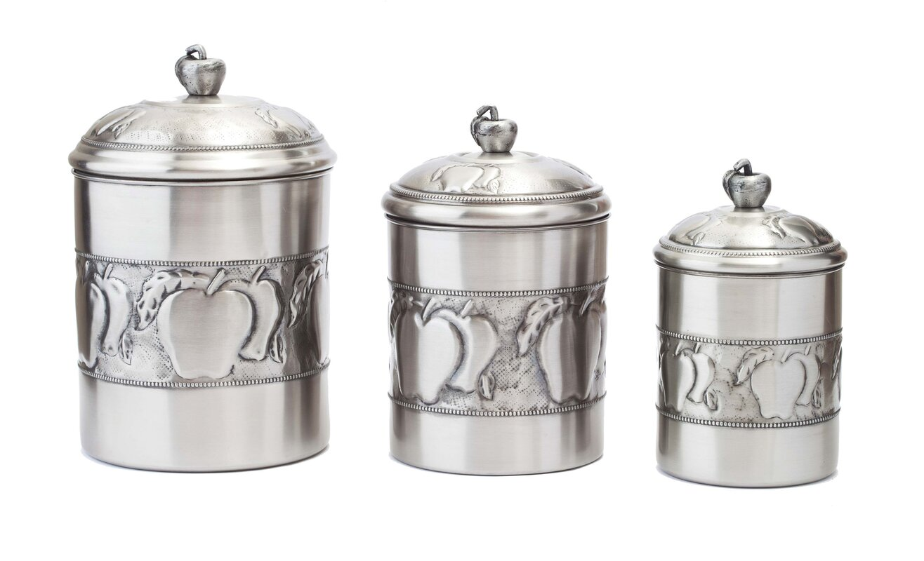 old dutch 3 piece kitchen canister set reviews wayfair default name