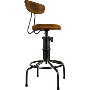 Buck Adjustable Height Swivel Bar Stool by Nuevo