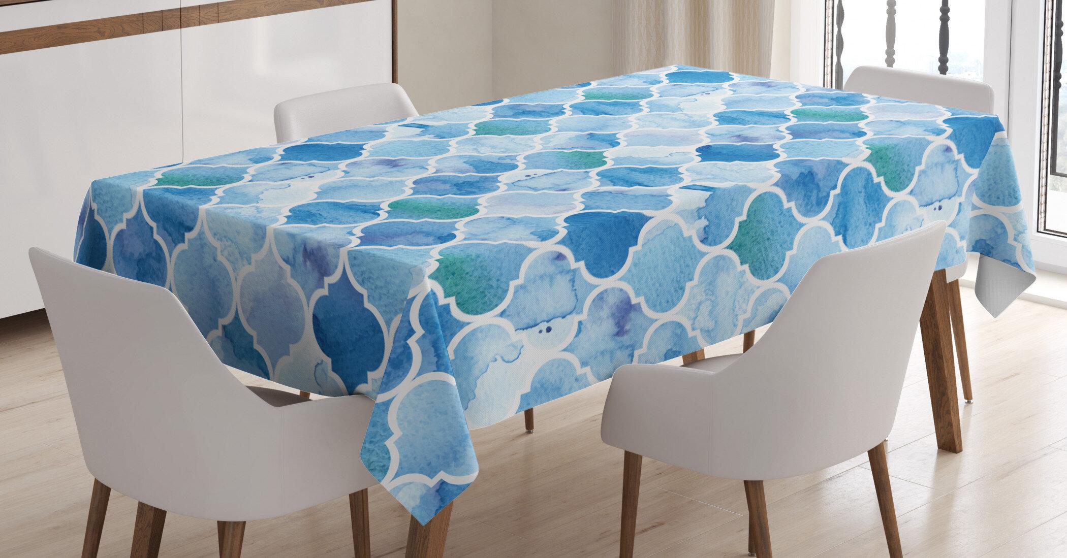 East Urban Home Moroccan Oriental Arabic Mosaic Tablecloth Wayfair