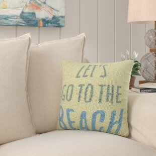 Breakwater Bay Thorin Hello Sailor Hook Wool Lumbar Pillow Wayfair