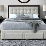Abril Queen Tufted Upholstered Storage Standard Bed by House of Hampton®