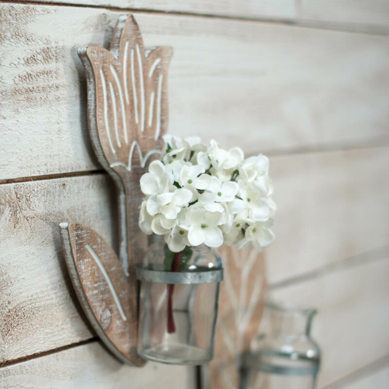 Ophelia Co Lanigan Wallflower Hanging Bud Wall Vase Wayfair