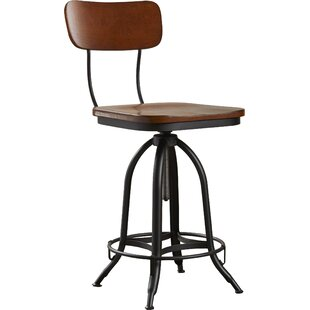 Fennimore Height Adjustable Swivel Bar Stool By Borough Wharf