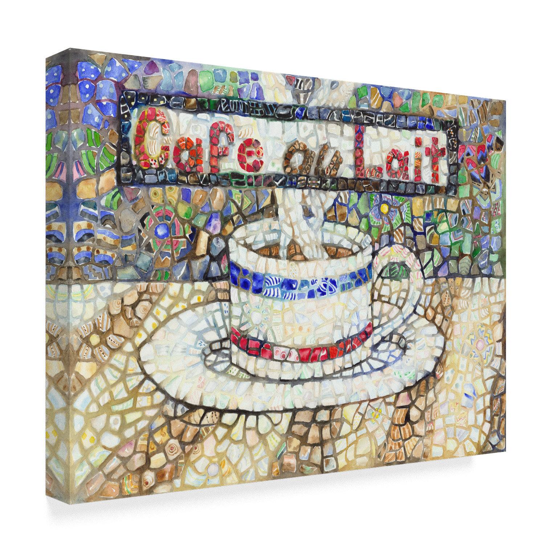 Fleur De Lis Living Cafe Au Lait Acrylic Painting Print On Wrapped Canvas Wayfair