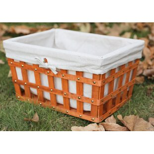 Price comparison Large Woodchip Basket Bin with Liner By August Grove