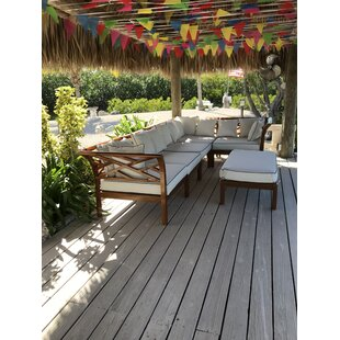 Long Island Teak Patio Sectional with Cushions by Chic Teak
