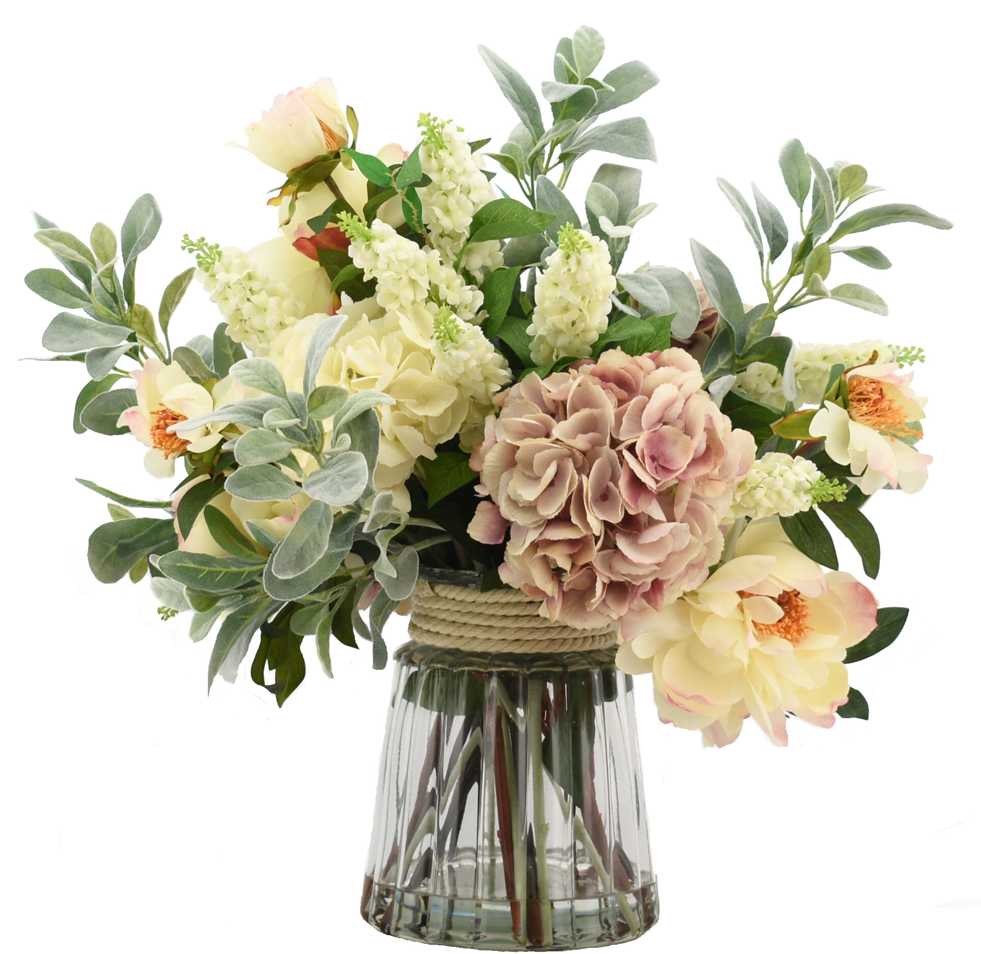 Creative Displays Inc Mixed Floral Arrangement In Glass Vase Perigold