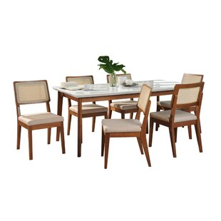 Tedeschi 7 Piece Solid Wood Dining Set by Union Rustic Find