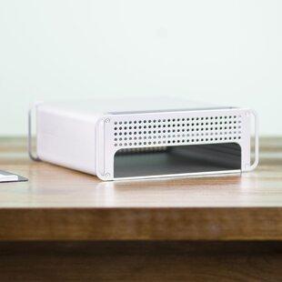 Vivo Adjustable Desktop Monitor Riser Stand and Storage