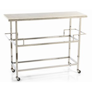 Benziger Servo Silver Metal Bar Cart by E..