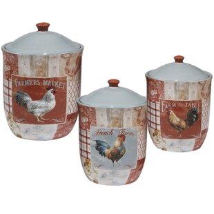 Ceramic Rooster Canister Set Wayfair