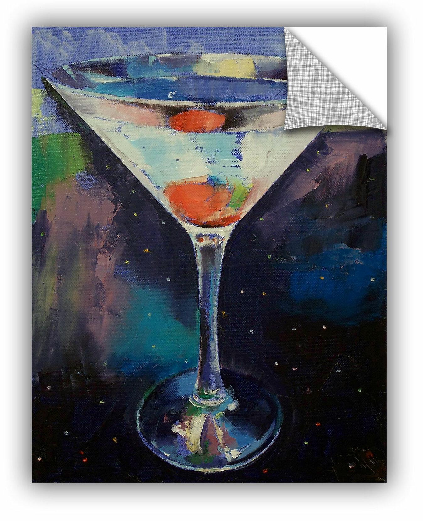 Winston Porter Bombay Sapphire Martini Removable Wall Decal Wayfair